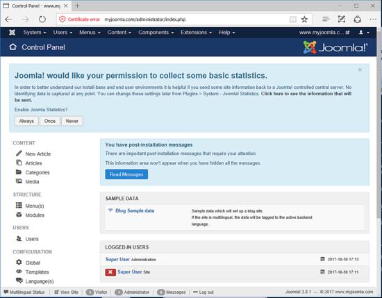 How to Install Joomla! CMS on Debian 9