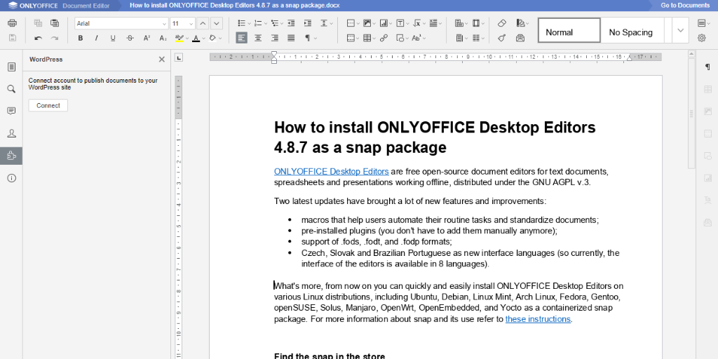 How to Install ONLYOFFICE Document Server on CentOS 7