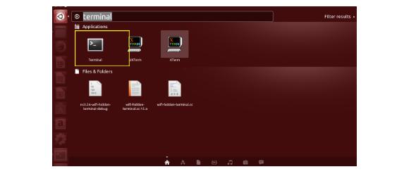 Start terminal application