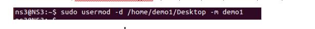 Use Linux usermod command