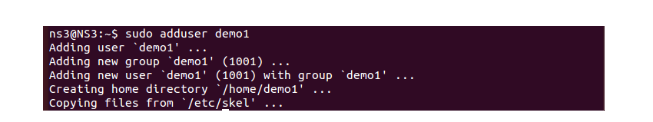 Create user with adduser command