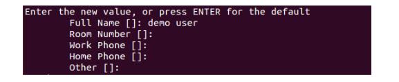 Enter user details