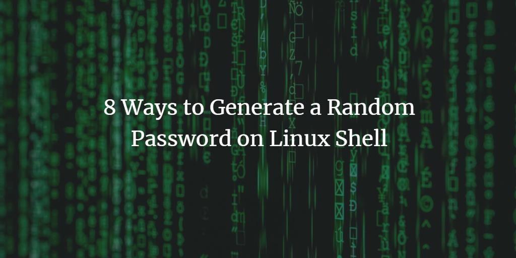 Create a random password on Linux