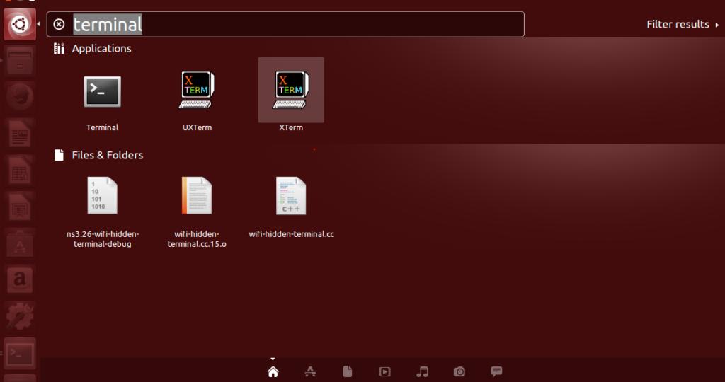 Start Linux terminal application