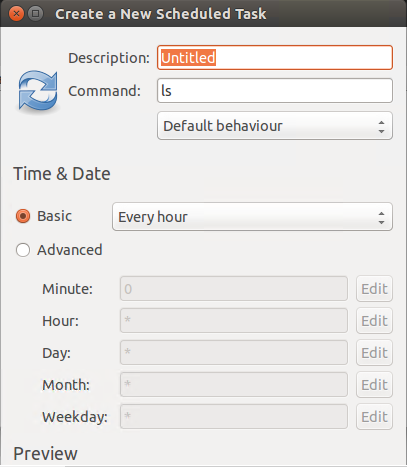 Create a scheduled task