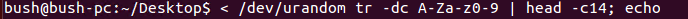 Create a password with urandom device