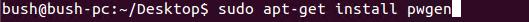 install pwgen