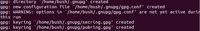 gpg result