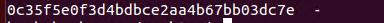 The md5sum password