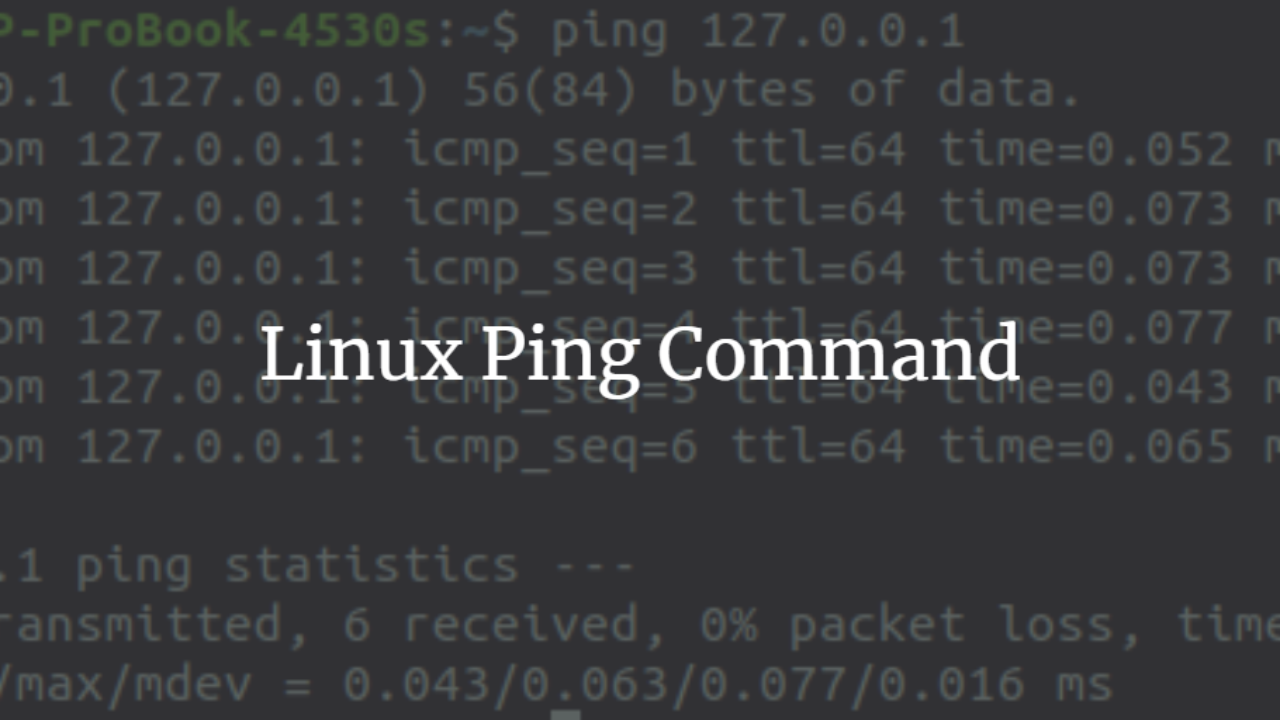 The Linux Ping Command – VITUX