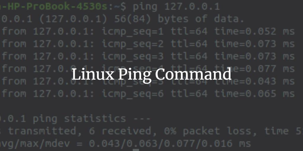 O Comando Ping Linux