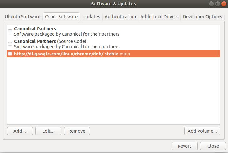 Remove Google Chrome Ubuntu repository