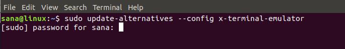 Change x-terminal-emulator