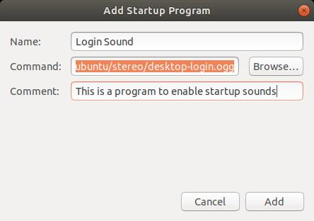 Add startup program