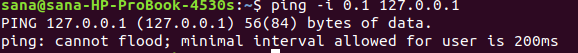 Increasing/Decreasing interval between ping packets