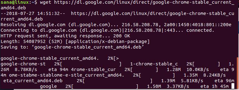 Install Chrome .de Package
