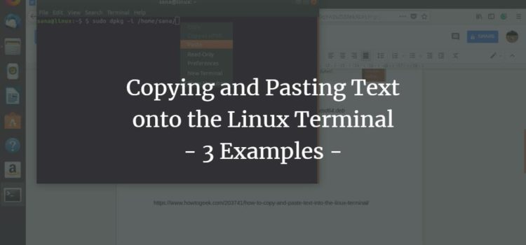 Copying and Pasting Text onto the Linux Terminal