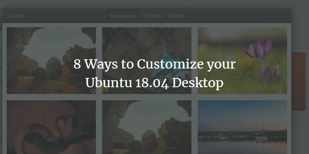 Customize Ubuntu Desktop
