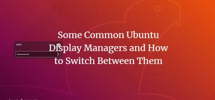 Some Common Ubuntu Display Managers and How to Switch Between Them
