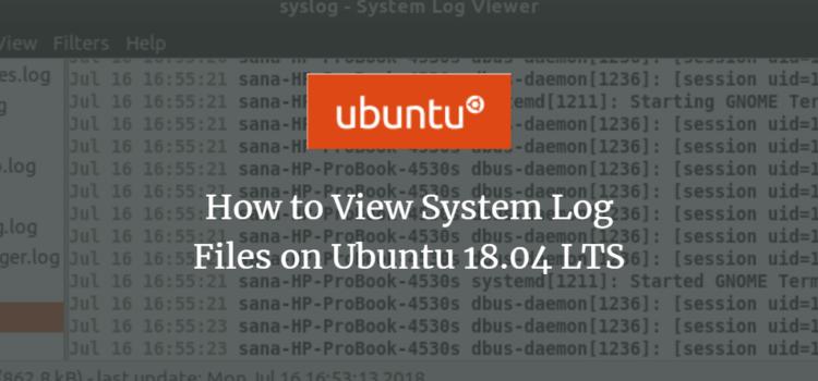 View System Log Files on Ubuntu