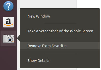 Remove app from favorites