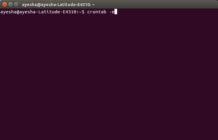 Edit crontab by using the crontab-e command