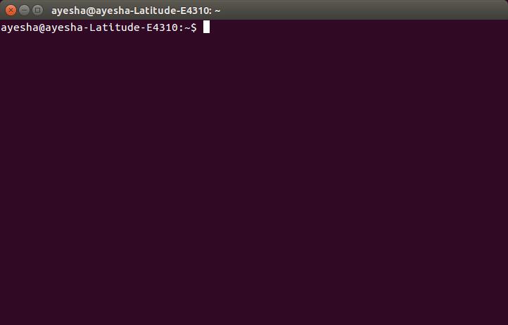 Ubuntu Terminal opened