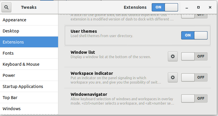 Enable user themes