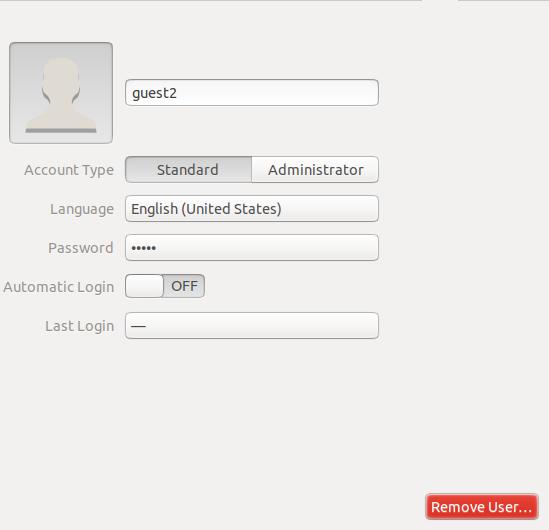 Delete Ubuntu user trough GUI