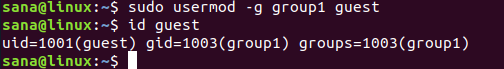 Changing Primary Group Of a User