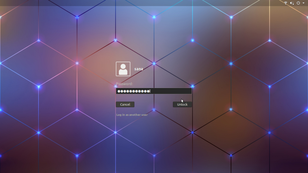 Customized Ubuntu Lock Screen