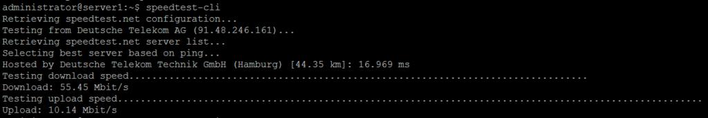 Run internet speed test