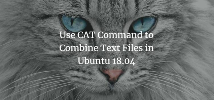 Combine files with CAT command