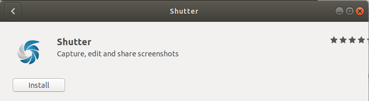 Install the shutter
