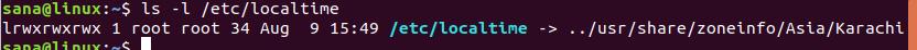 Get link target of /etc/localtime symlink