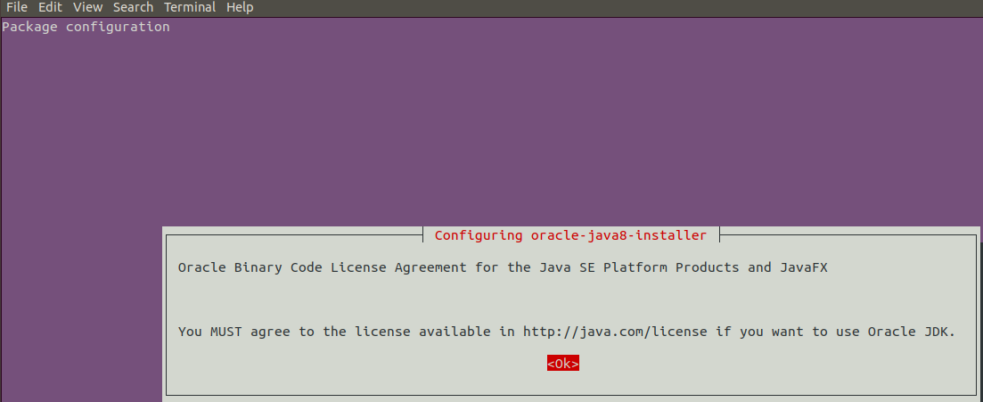 Agree to Java license
