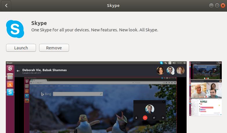 Launch Skype