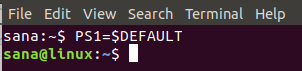 Reset shell prompt