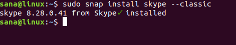 Install Skype snap