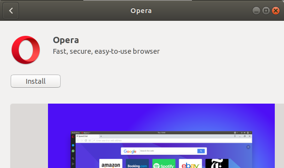 How to Install Opera Browser on Ubuntu 18 04 LTS