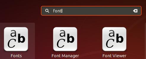 Start Ubuntu Font Manager