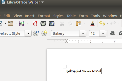Font is available in LibreOffice now