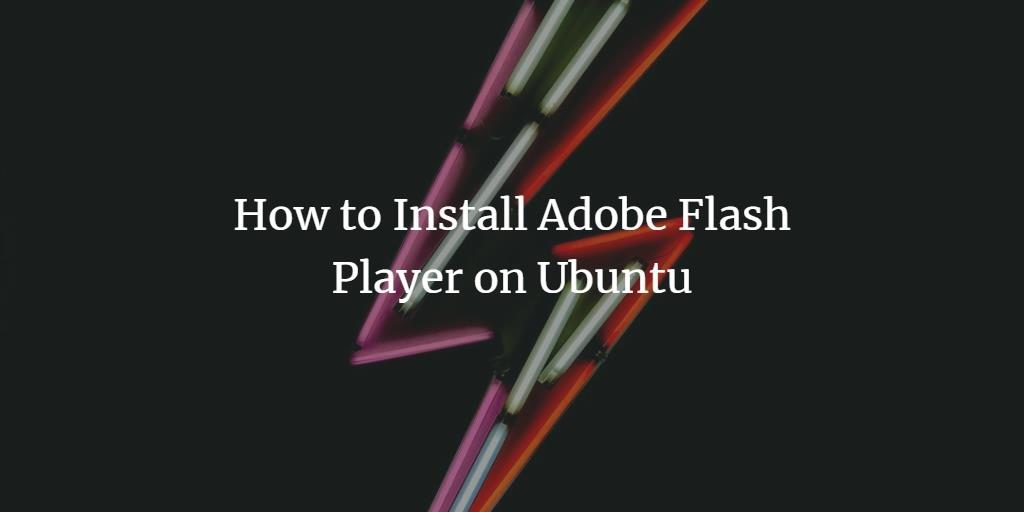 install adobe flash ubuntu 18.04