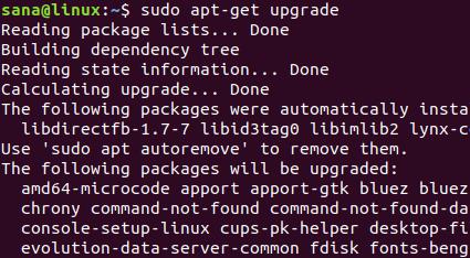 Update installed software
