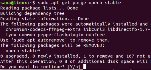 use apt-get purge