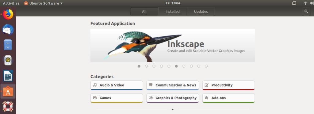 Ubuntu Software manager