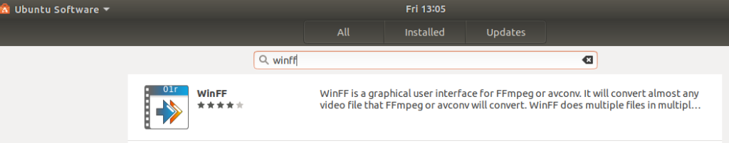 Search for WinFF