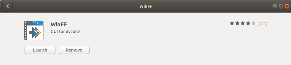 Launch WinFF sound file conversion program