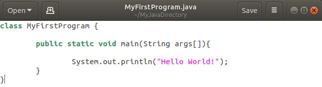 Java program code
