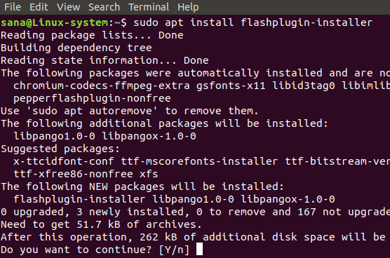 Install the Flashplugin Installer Package